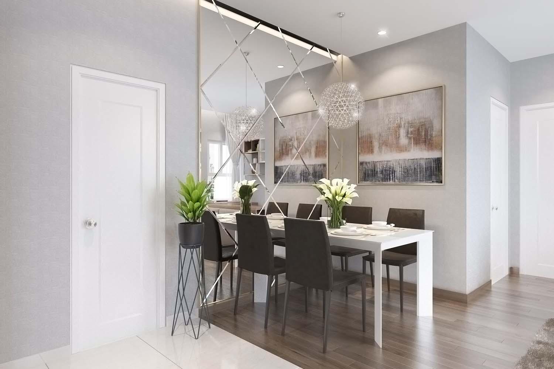 thiết kế hiện đại căn hộ samsora riverside